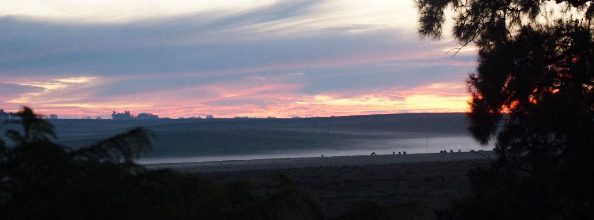 landscape dusk Estancia San Eugenio Uruguay