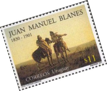 stamp of Blanes painting